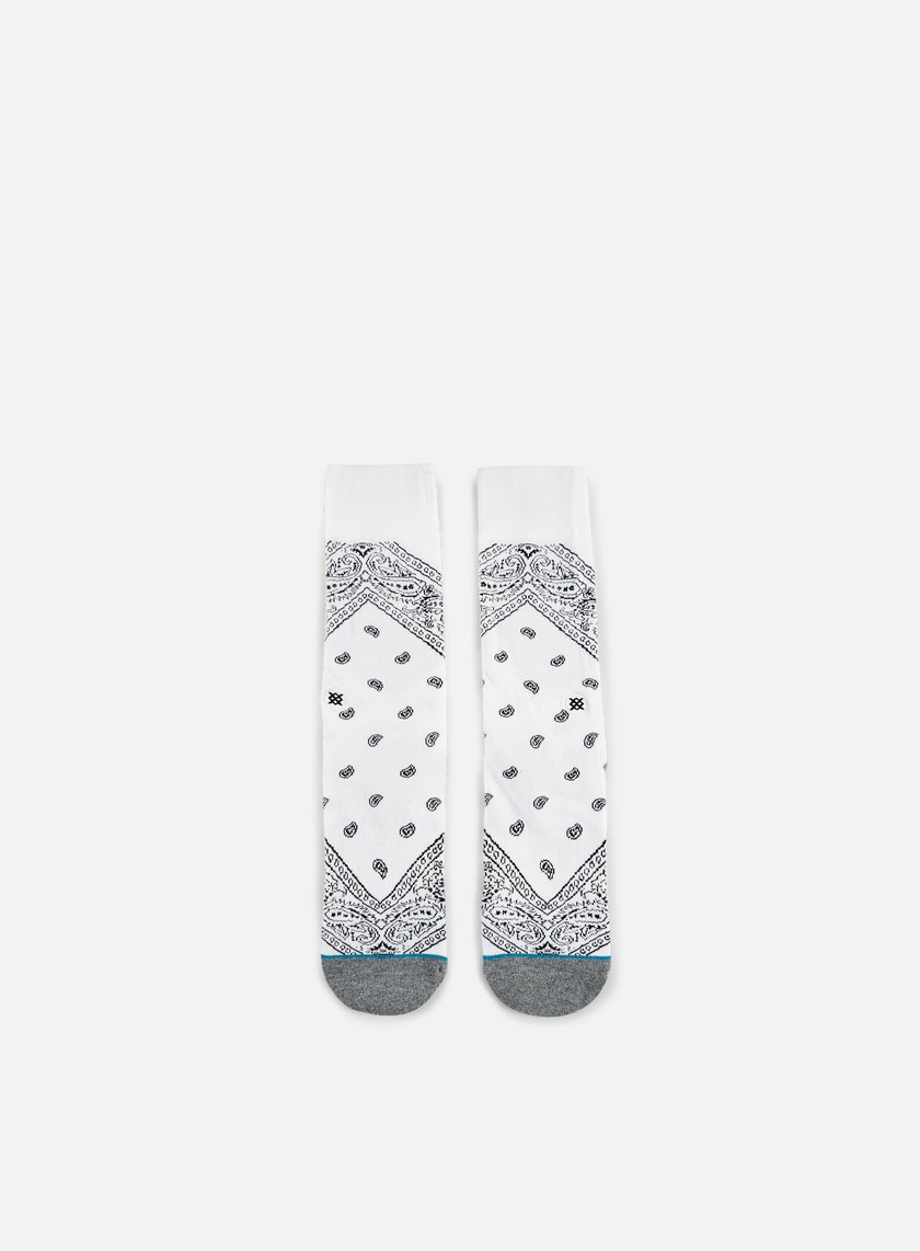 Stance - Barrio Crew Socks, White