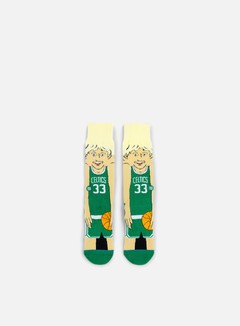 Stance - Bird NBA Cartoons Crew Socks, Green 1