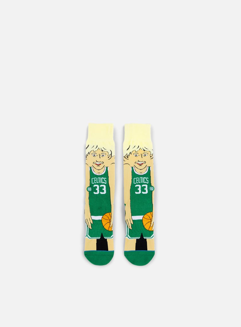 Stance - Bird NBA Cartoons Crew Socks, Green