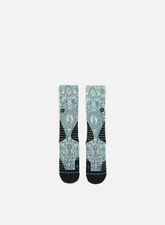 Stance - Cash Crew Fusion Basketball Crew Socks, Green 1