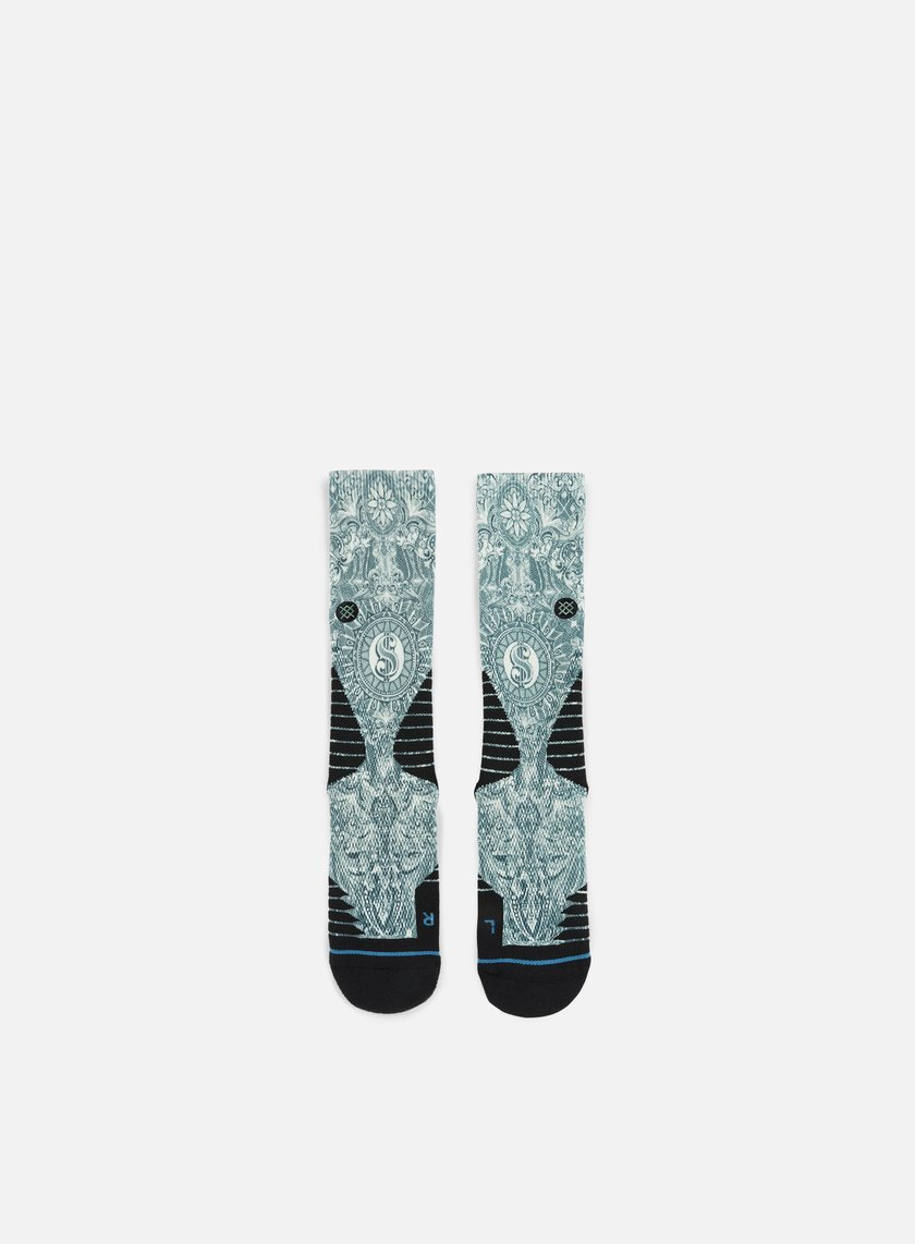 Stance - Cash Crew Fusion Basketball Crew Socks, Green