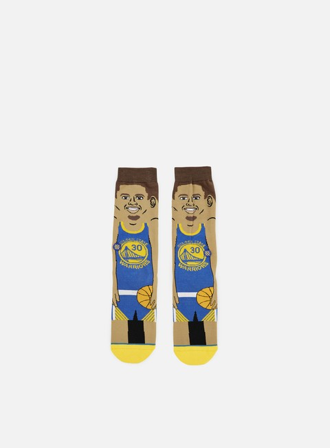 accessori stance curry nba cartoons crew socks blue