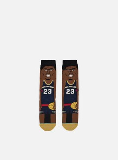 Stance - Davis NBA Cartoons Crew Socks, Navy 1