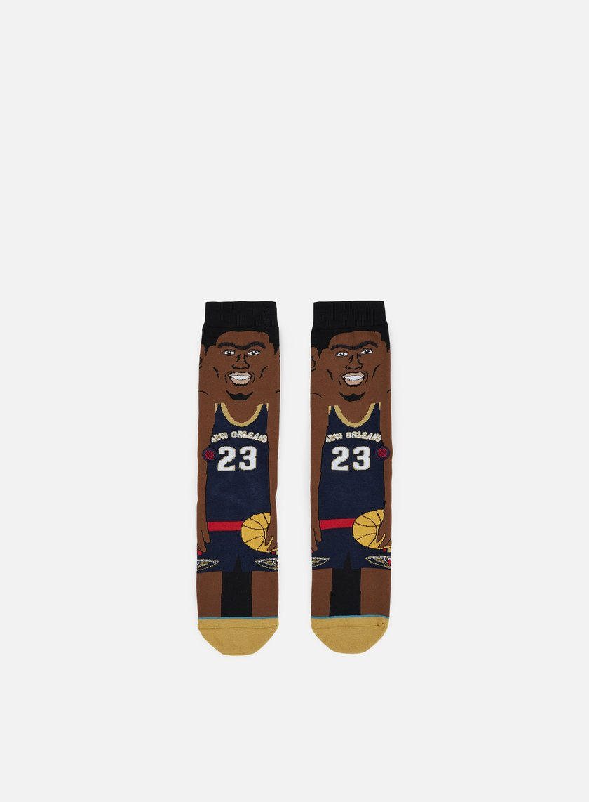 Stance - Davis NBA Cartoons Crew Socks, Navy