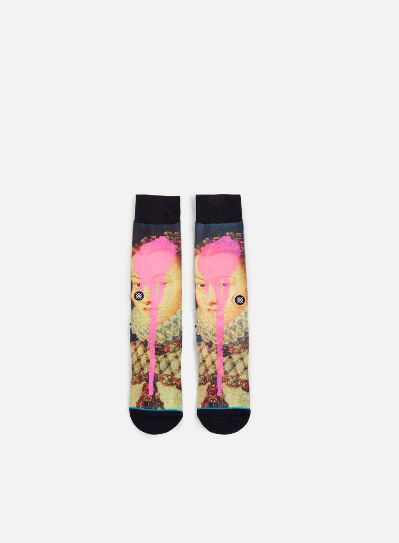 Stance - Defaced Elizabeth Anthem Crew Socks, Pink