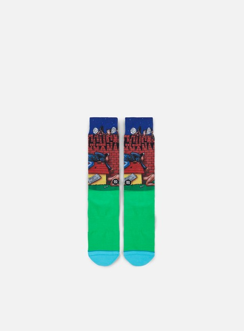 accessori stance doggy style crew socks green