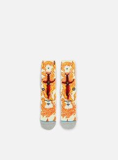 Stance - Guerrero Skate Legends Crew Socks, Orange 1