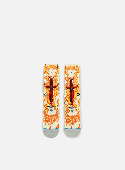 accessori stance guerrero skate legends crew socks orange