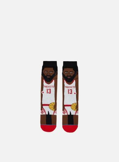 Stance - Harden NBA Cartoons Crew Socks, White 1