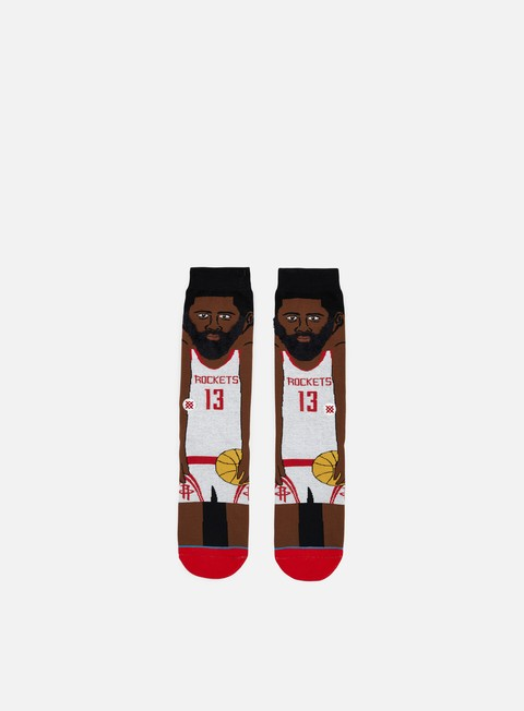 accessori stance harden nba cartoons crew socks white