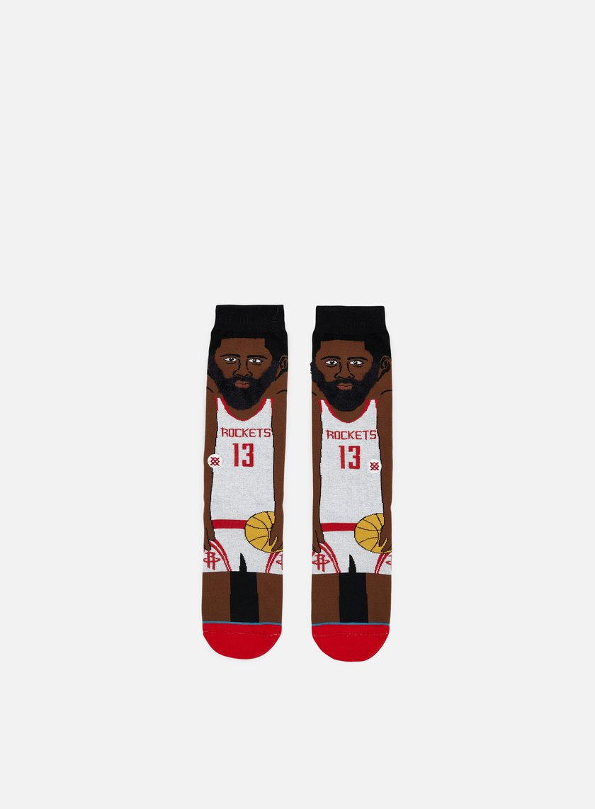 Stance - Harden NBA Cartoons Crew Socks, White