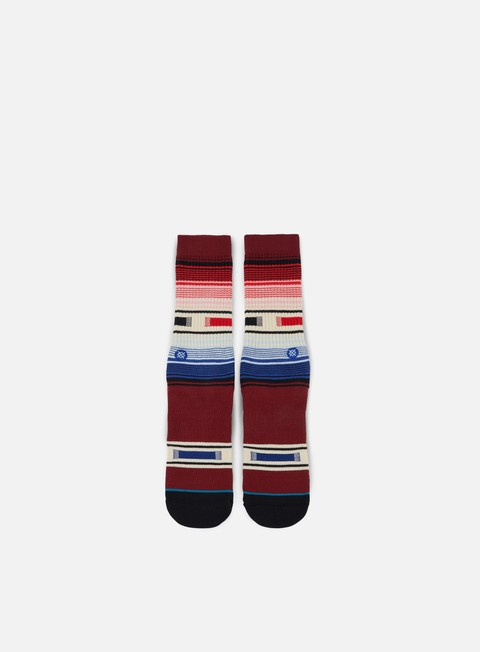 accessori stance hatchets crew socks burgundy
