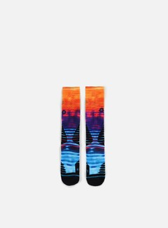 Stance - Horizon Fusion Basketball Crew Socks, Red 1