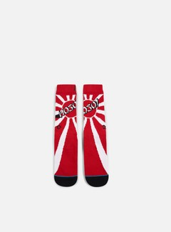 Stance - Hosoi Crew Socks, Red 1