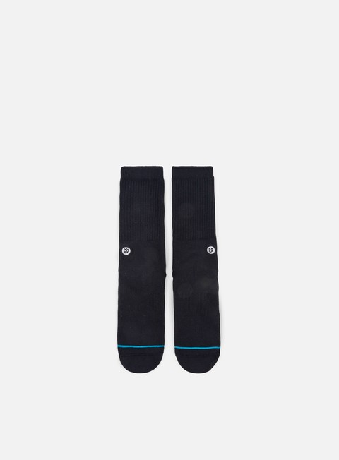 accessori stance icon crew socks black white