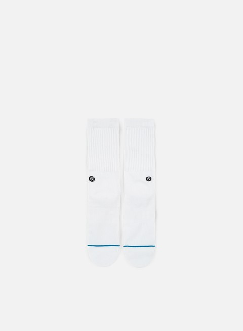 accessori stance icon crew socks white black