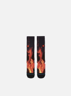 Stance - Inferno Fusion Basketball Crew Socks, Black 1