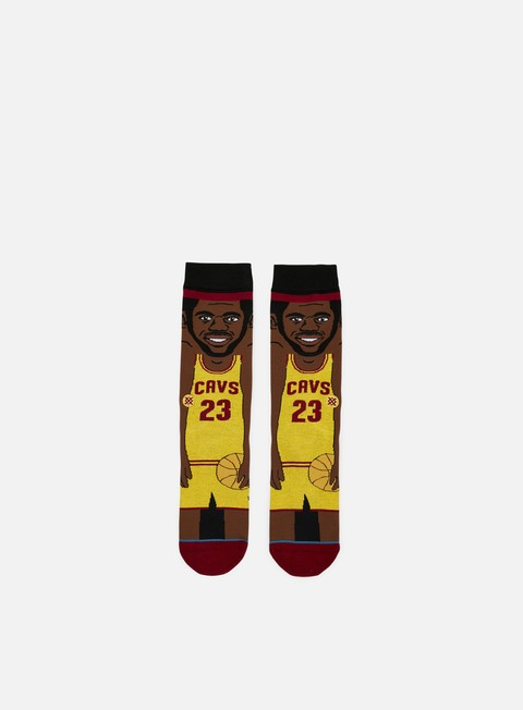 accessori stance james nba cartoons crew socks yellow