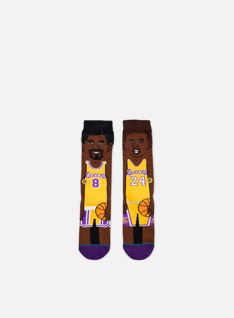 accessori stance k bryant nba cartoons crew socks yellow