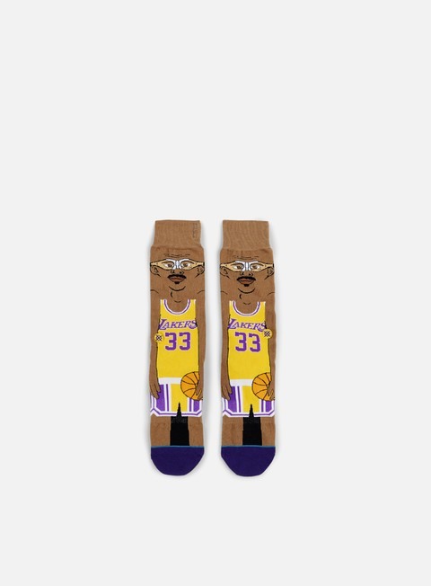 accessori stance kareem nba cartoons crew socks yellow