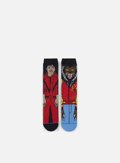 Stance - Michael Jackson Crew Socks, Red 1