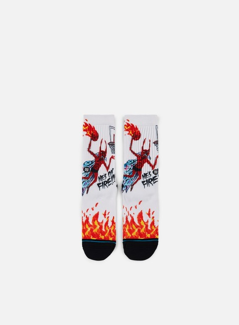 accessori stance neckface on fire crew socks white