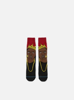 Stance - Notorious B.I.G. Anthem Crew Socks, Red 1