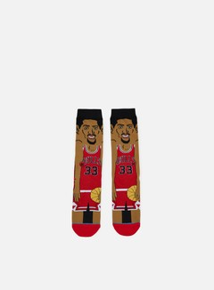 Stance - Pippen NBA Cartoons Crew Socks, Red 1