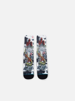 Stance - Poseidon Redux Crew Socks, White 1