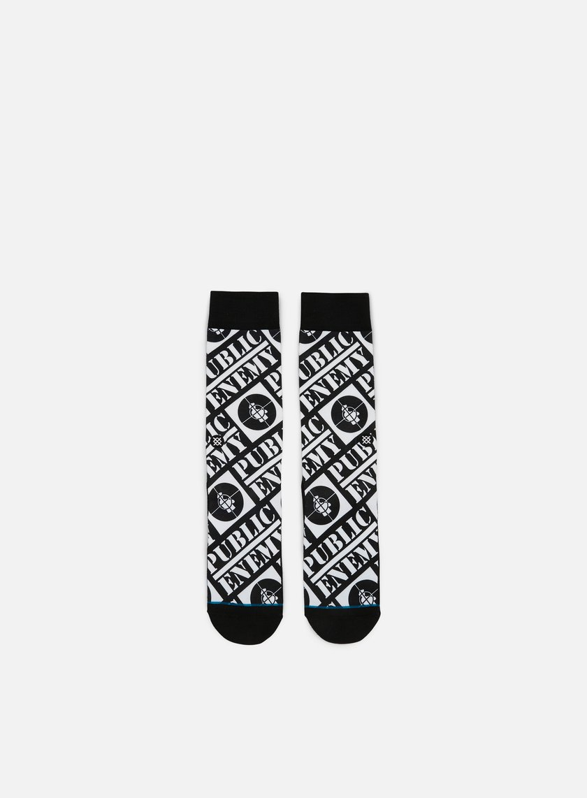 Stance - Public Enemy Anthem Crew Socks, Black
