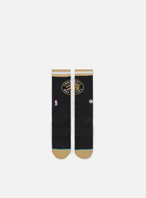 accessori stance raptors jersey crew socks gold