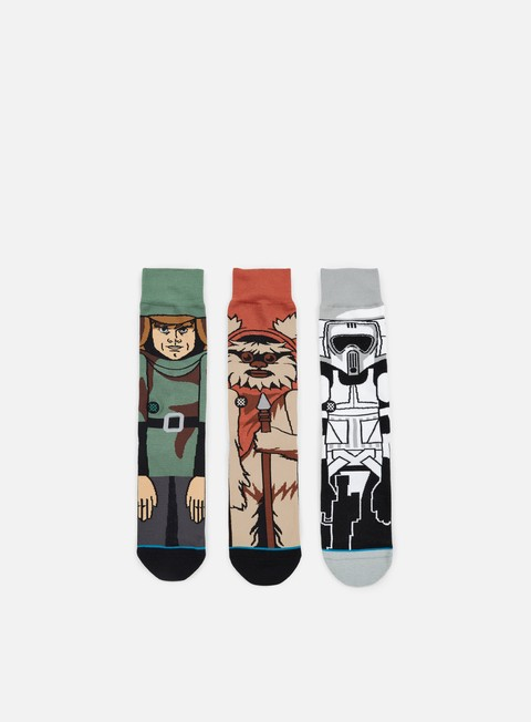 accessori stance return of the jedi star wars 3 socks pack