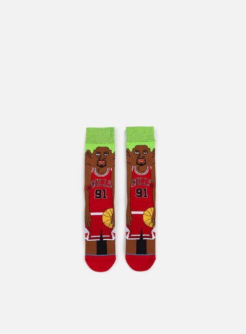 accessori stance rodman nba cartoons crew socks red