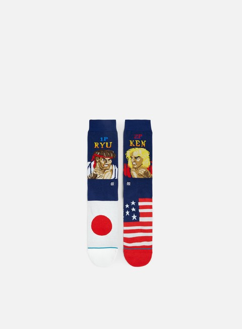 accessori stance ryu vs ken crew socks navy