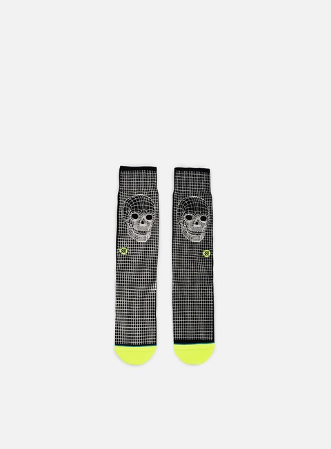 accessori stance skull frame crew socks black