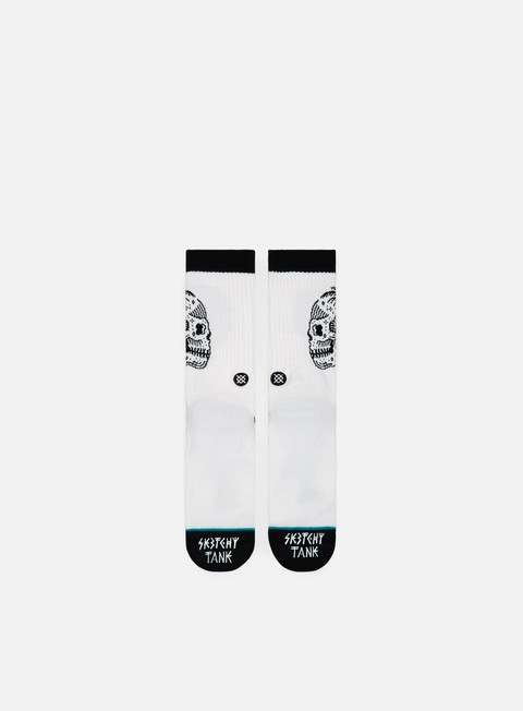accessori stance skull palm crew socks white
