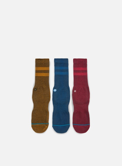 accessori stance solid 3 pack crew socks multi