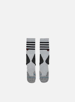 Stance - Speedway V3Fusion Basketball Crew Socks, Grey Heather 1