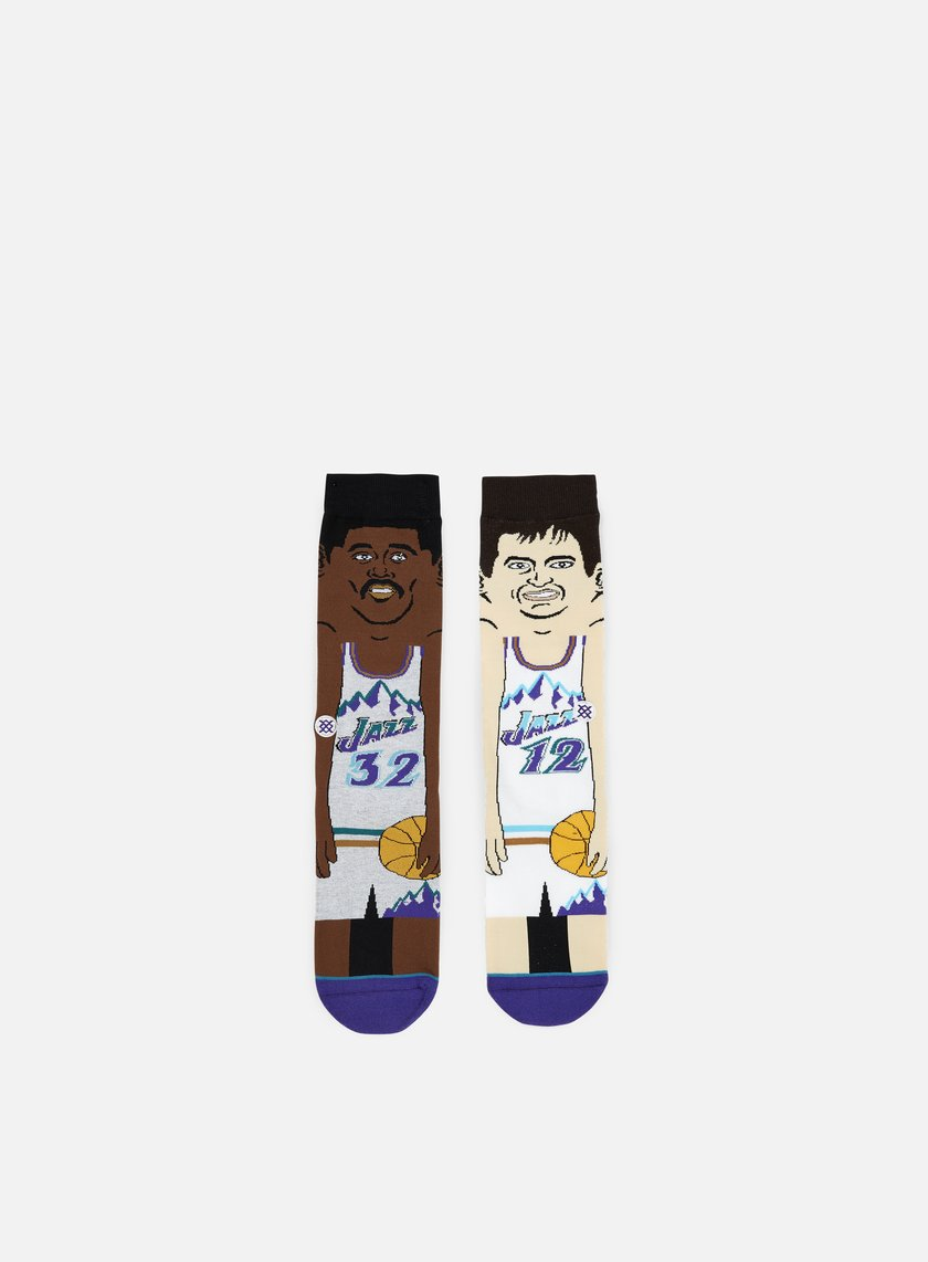 Stance - Stockton/Malone NBA Cartoons Crew Socks, Purple
