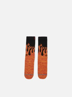 Stance - Torch Anthem Crew Socks, Orange 1