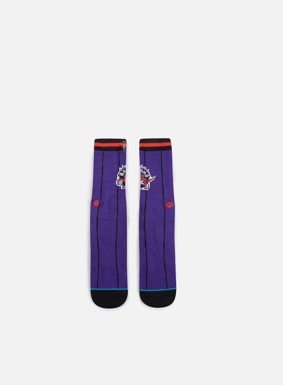 Stance - Toronto Raptors HWC Crew Socks, Purple