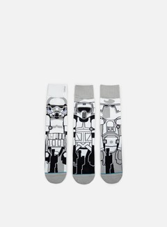Stance - Trooper Star Wars 3 Pieces Socks, White 1