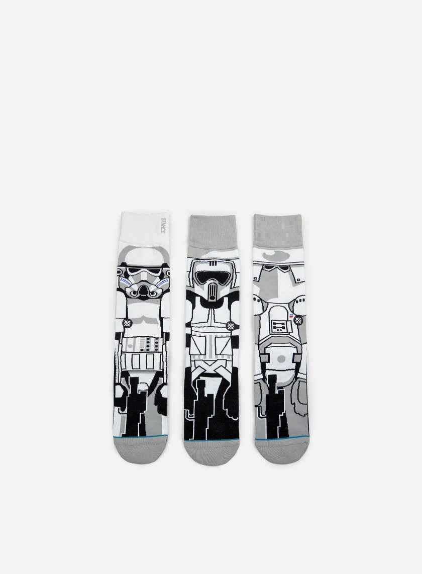 Stance - Trooper Star Wars 3 Pieces Socks, White