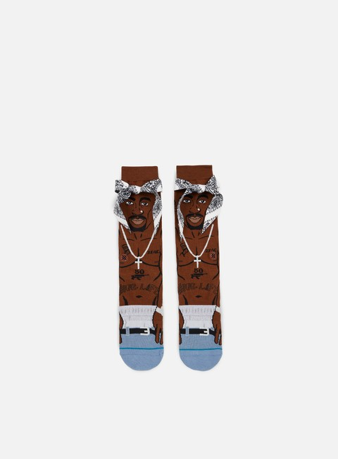 accessori stance tupac anthem crew socks brown