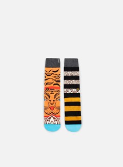 Stance - Turnt Wade Crew Socks, Orange 1