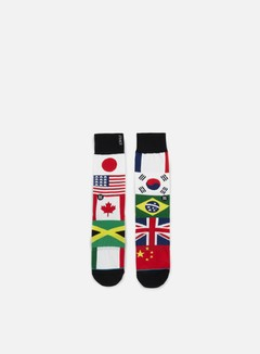 Stance - United Anthem Crew Socks, Multi 1