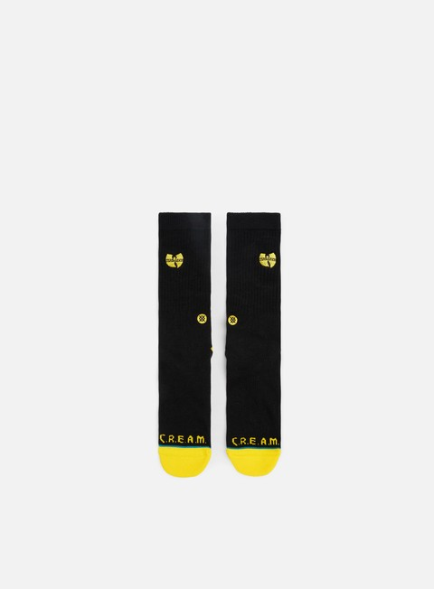 accessori stance wu tang patch crew socks black