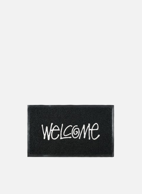 accessori stussy pvc welcome mat black