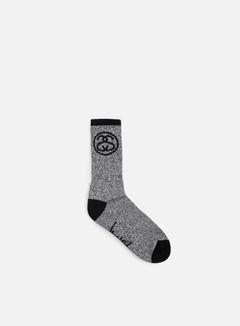 Stussy - SS Link Socks, Black/White 1