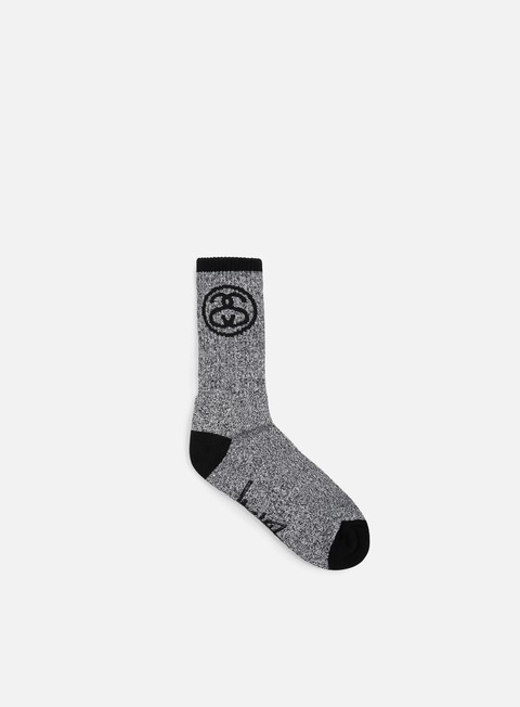 accessori stussy ss link socks black white
